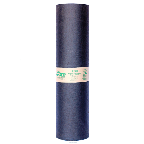 Gap Roofing Saturated Roofing Astm 30 D226 Roofing