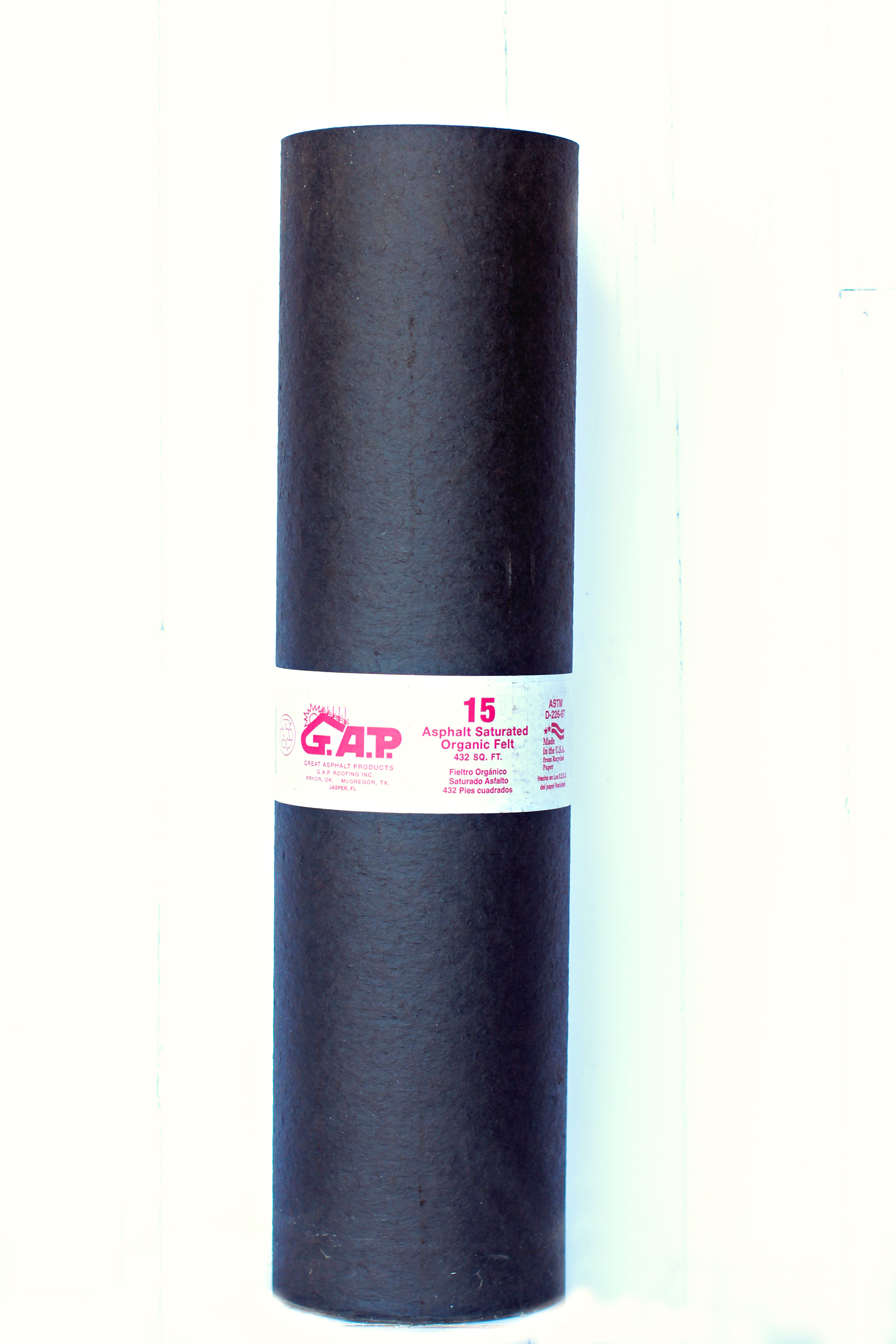 Gap Roofing Saturated Roofing Astm 15 D266 Roofing